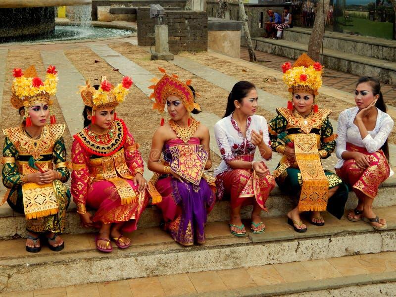 Traditional Balinese dancer stock image
