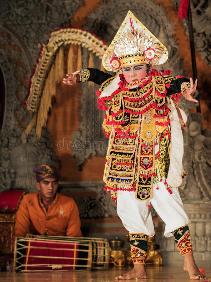 Traditional Balinese Legong and Barong Dance Performance in Ubud, Bali stock image
