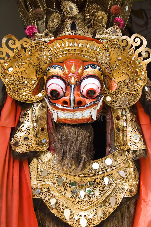 Traditional Balinese lion dance stock photography