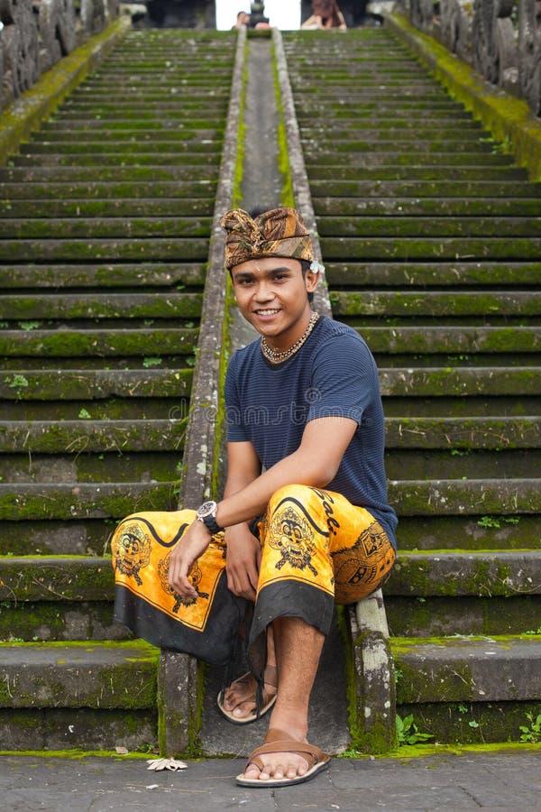 Traditional Balinese Pilgrim Editorial Stock Image