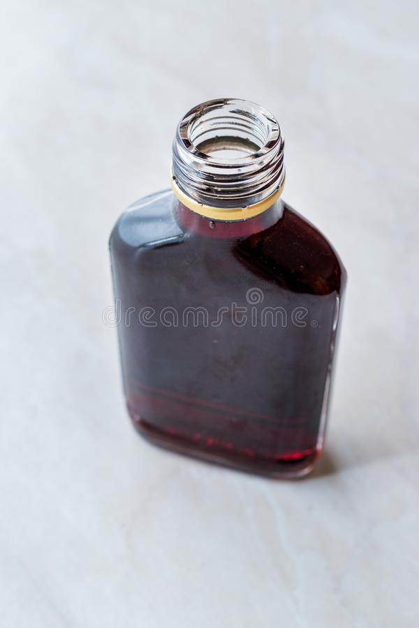 Traditional Balkan Alcoholic Brandy Cherry Rakija / Rakia stock images