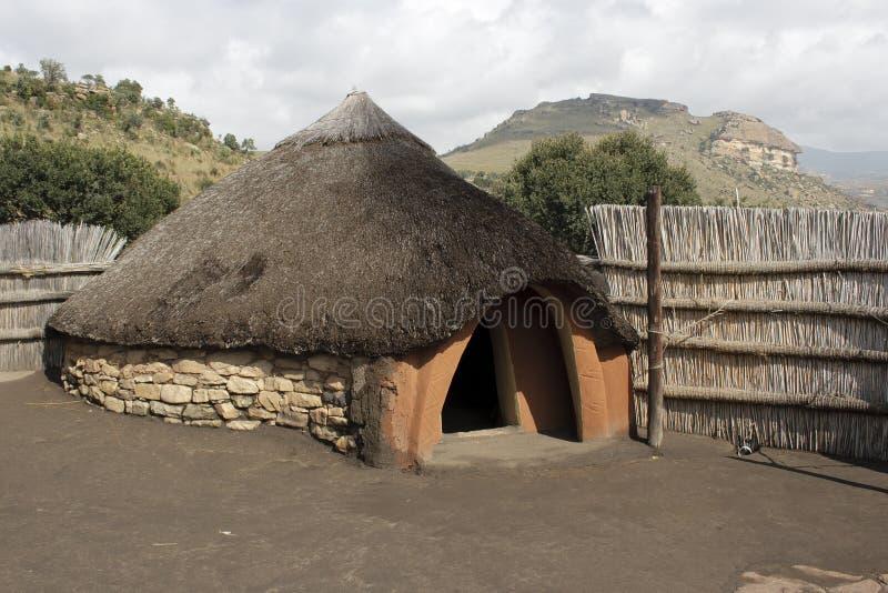 Traditional Basotho Hut stock image