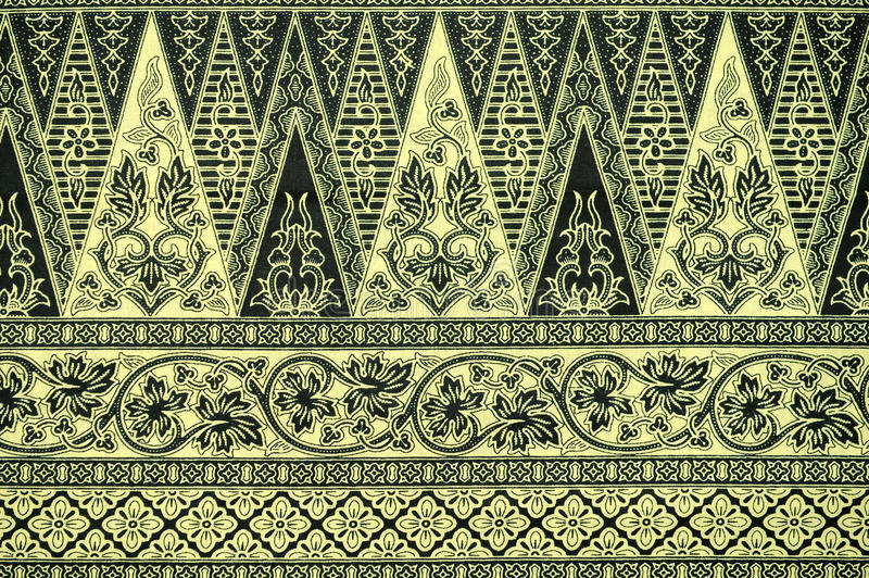 Batik Sarong Pattern Background stock photos