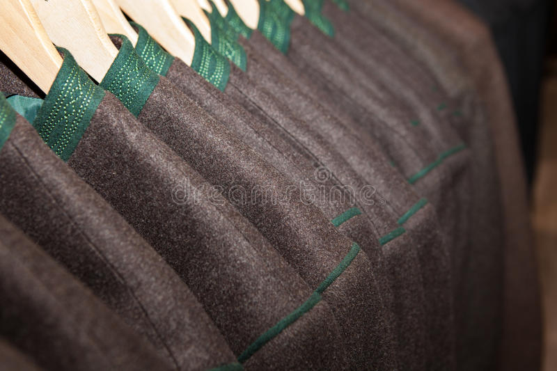 Traditional Bavarian dress in shop prepared. For Octoberfest stock photo