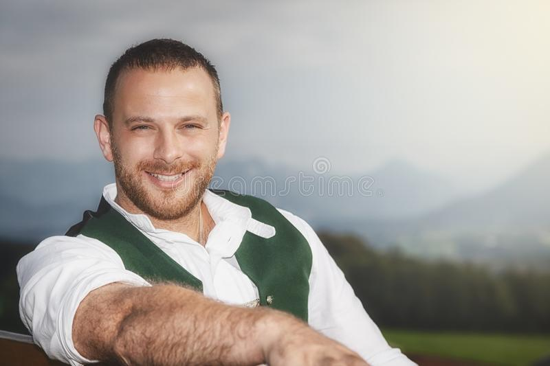 Bavarian tradition male stock images