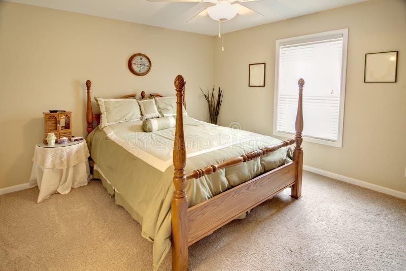 Download Traditional bedroom stock photo. Image of post, orange - 20505464