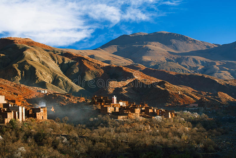 Traditional berbers village in High Atlas royalty free stock photo
