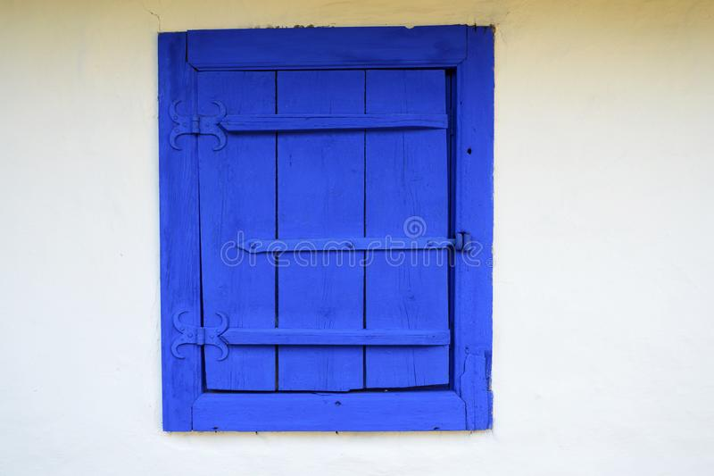 Traditional blue window stock photography