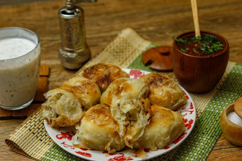 Traditional Bosnian pastry- manti borek royalty free stock photos