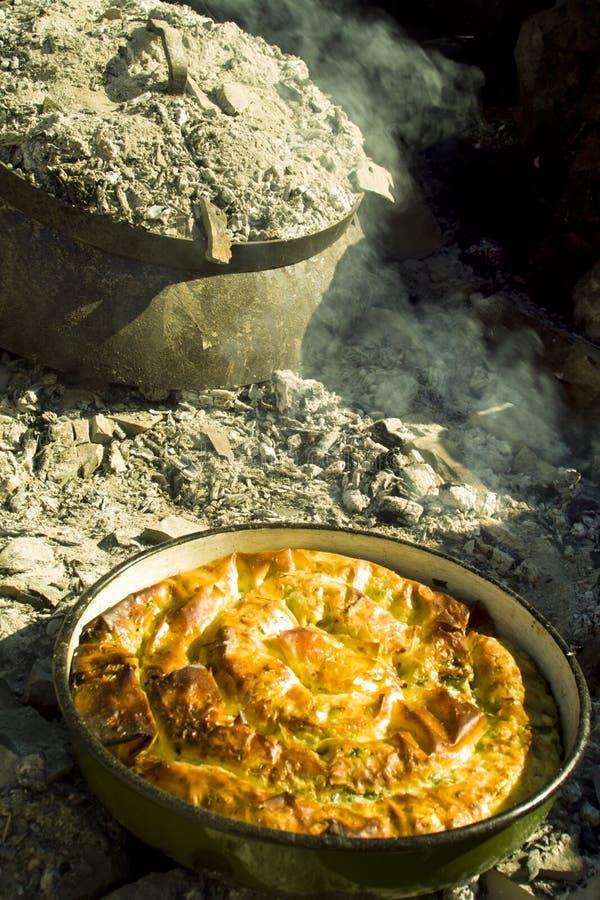 Traditional bosnian pie Burek royalty free stock photo