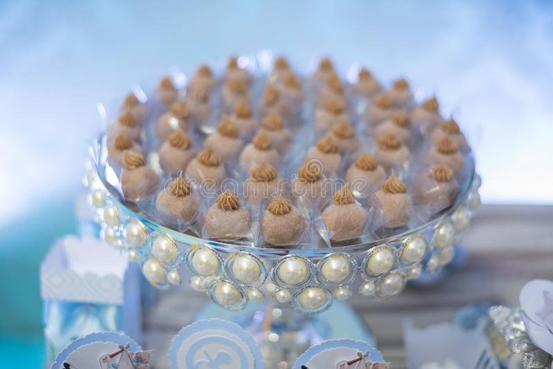 Traditional brazilian candies - baby shower stock photography