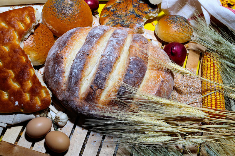 Download Traditional bread stock photo. Image of bakery, brown - 25689432