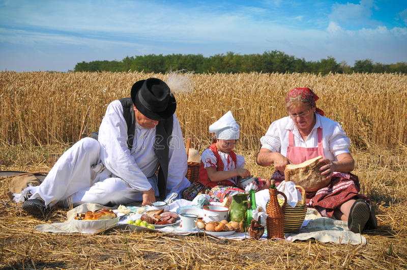Download Traditional Breakfast Of Wheat Field Stock Photo - Image: 25817438