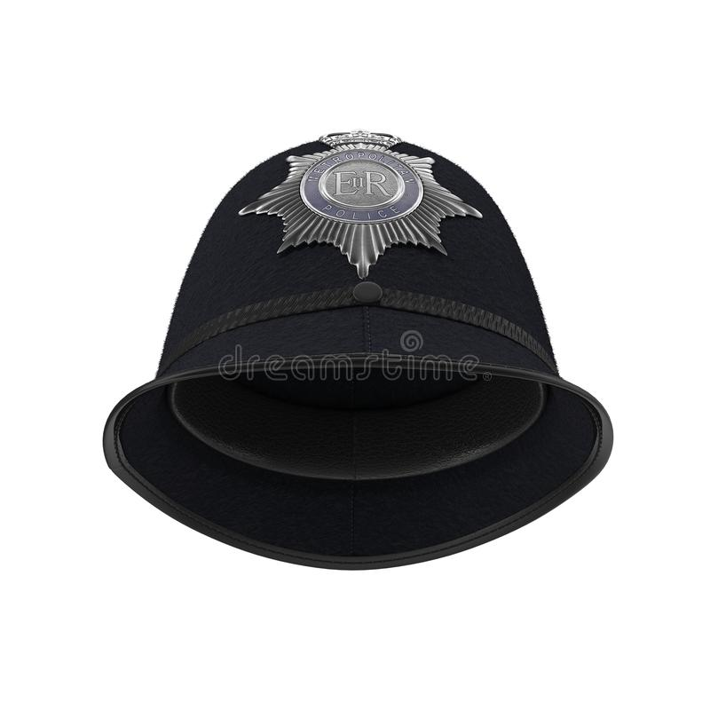 Traditional british police helmet isolated on white. 3D illustration vector illustration