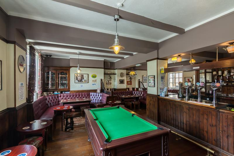 Traditional British pub interior royalty free stock images