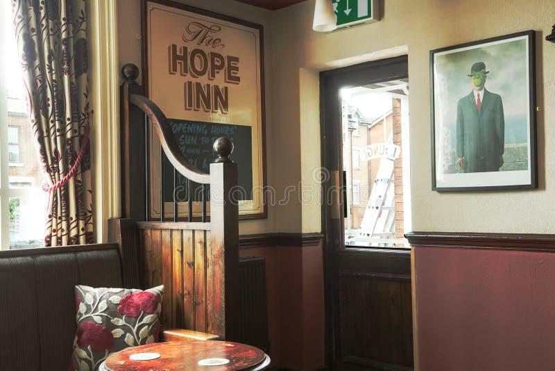 Traditional British pub interior royalty free stock image