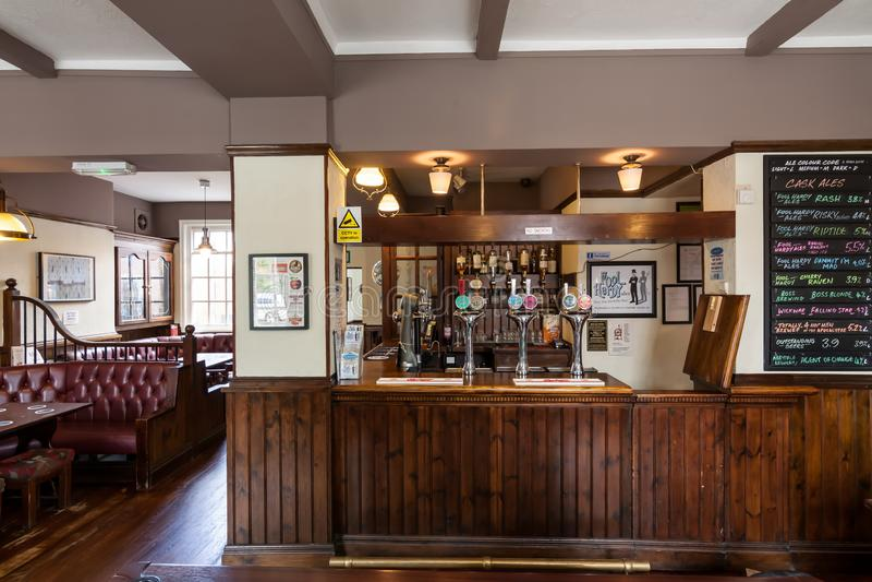 Traditional British pub interior stock image