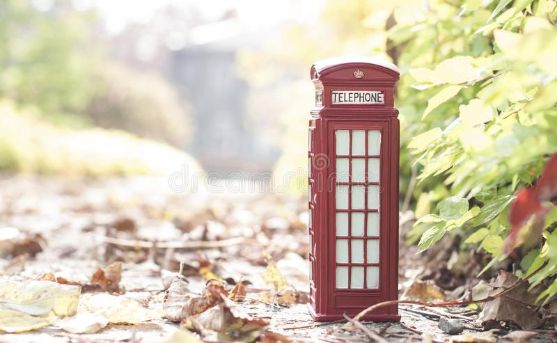 Traditional british vintage red phone royalty free stock photos