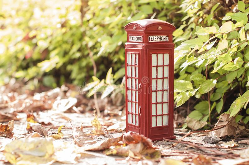 Traditional british vintage red phone royalty free stock photography