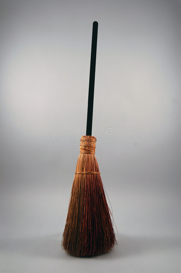 Traditional Broom. Used for sweeping and decoration royalty free stock images