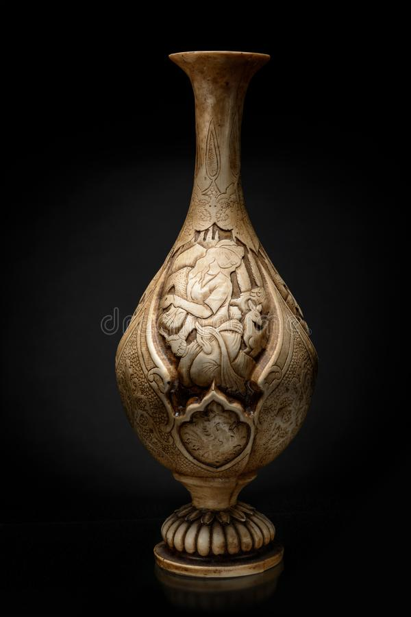 Iranian ceramic vase with pattern royalty free stock images