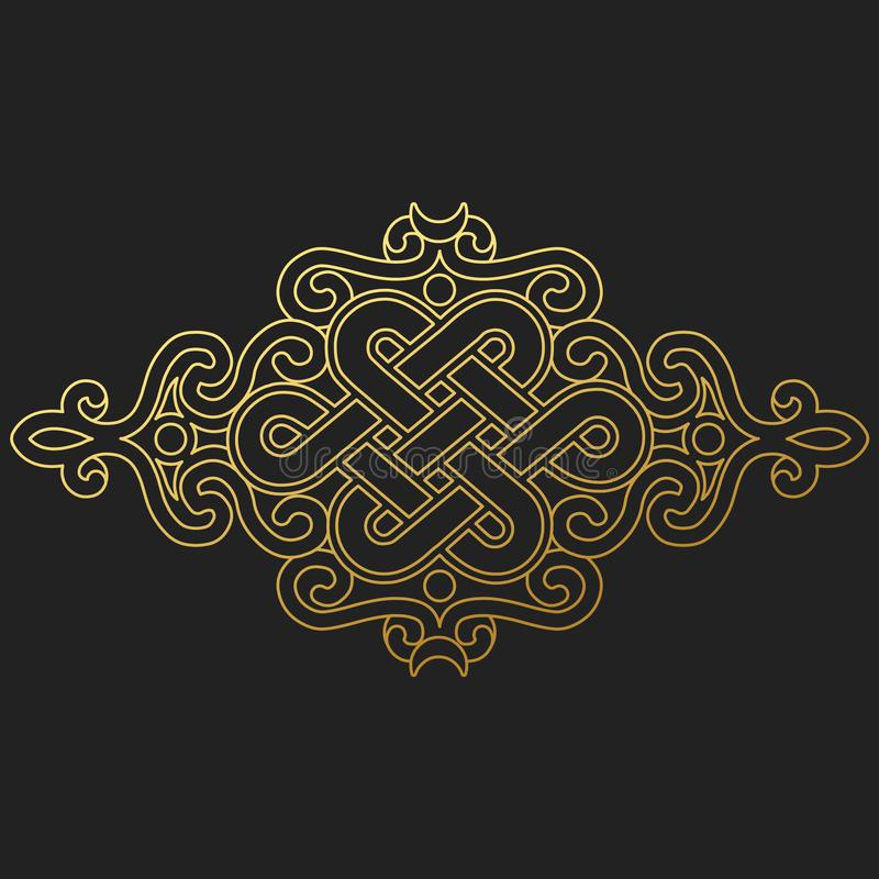 Free Traditional Buddhist Symbol Of Luck On Black Background.Vector Illustration Stock Photo - 127877700