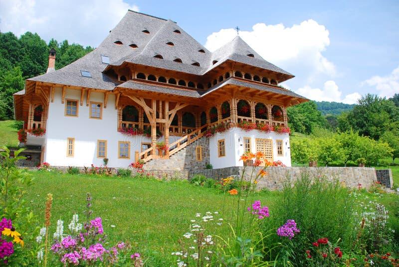 Traditional building of Barsana monastery