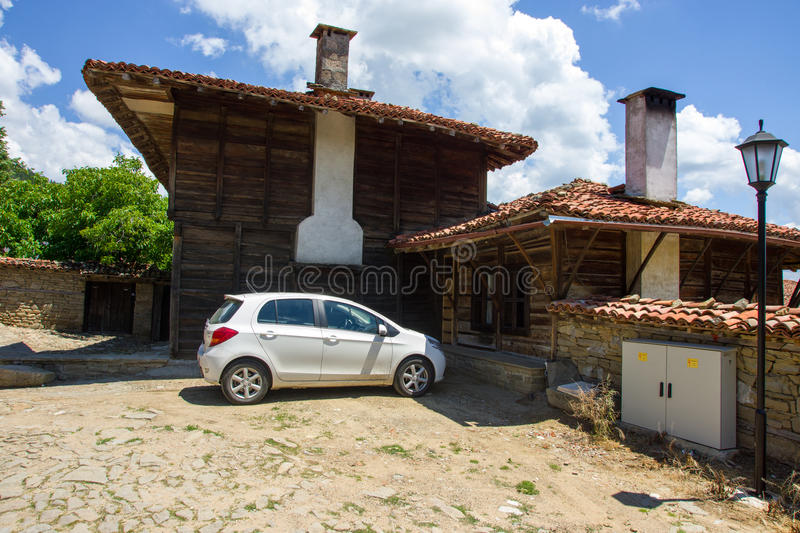 Traditional Bulgarian architecture and modernity royalty free stock photos