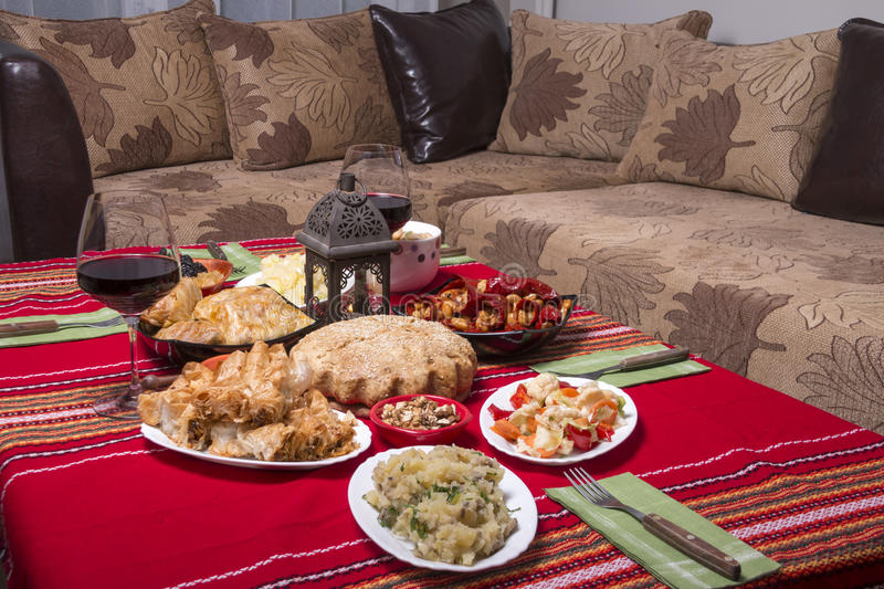 Download Traditional Bulgarian Christmas Table Setup Stock Photo - Image of meat flower 48329846 & Traditional Bulgarian Christmas Table Setup Stock Photo - Image of ...