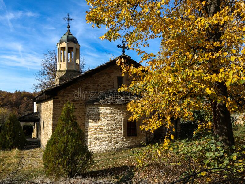 Traditional Bulgarian old houses in Bozhentsi village, Bulgaria, Gabrovo. Traditional Bulgarian old houses in stock photo