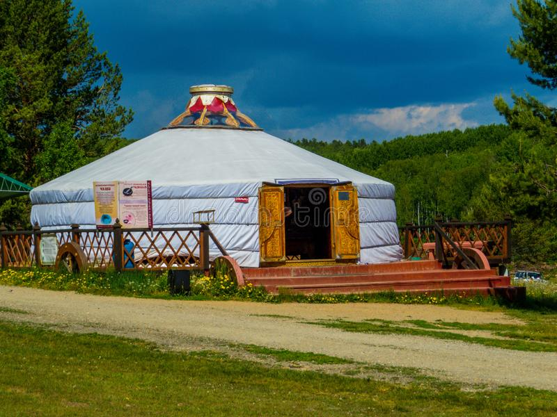 Traditional Buryat tent, Taltsy Architectural-Ethnographic Museum, Irkutsk, Russia royalty free stock images