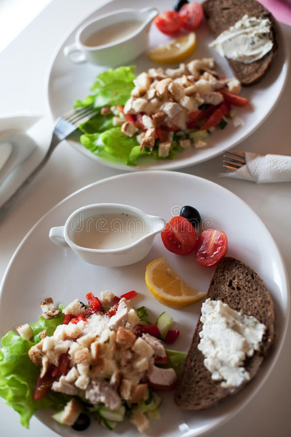 Download Traditional caesar salad stock image. Image of cracker - 12299789