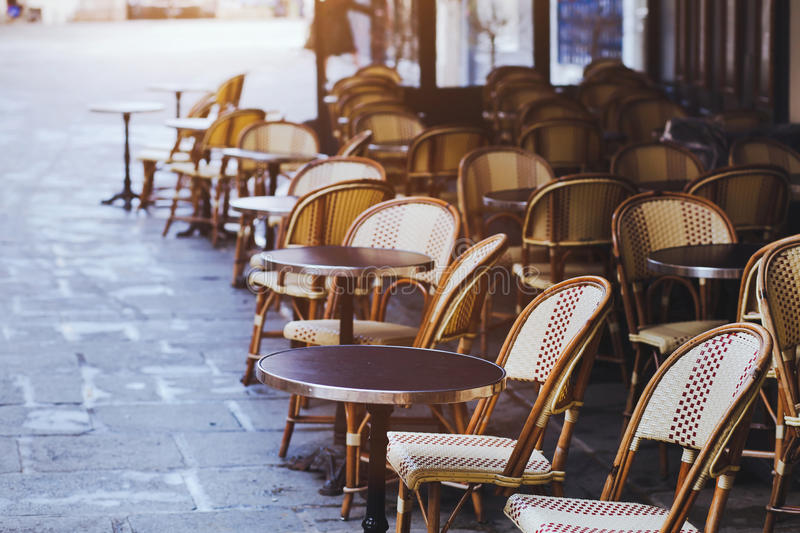 Traditional cafe in Paris royalty free stock photo