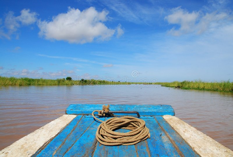 Traditional Cambodian Boat Royalty Free Stock Image