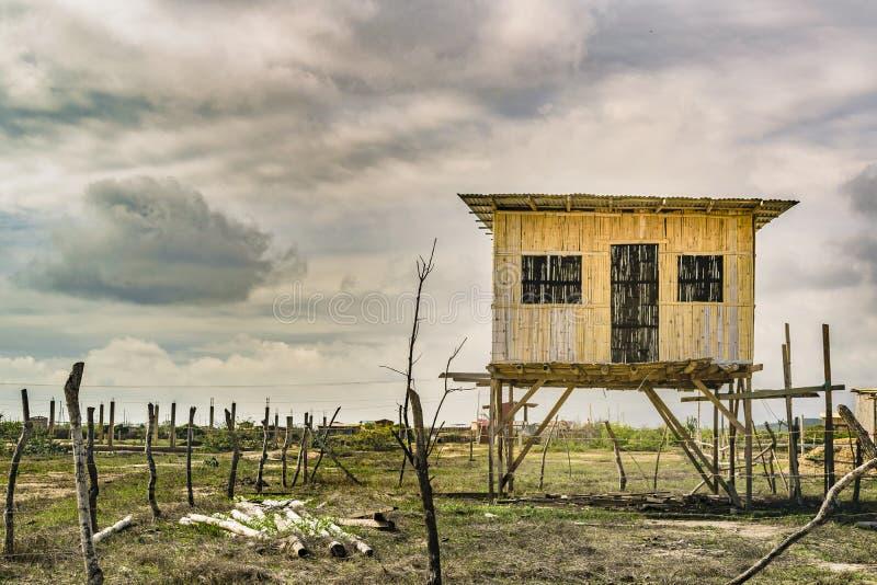 Traditional Cane House Ecuador royalty free stock photos