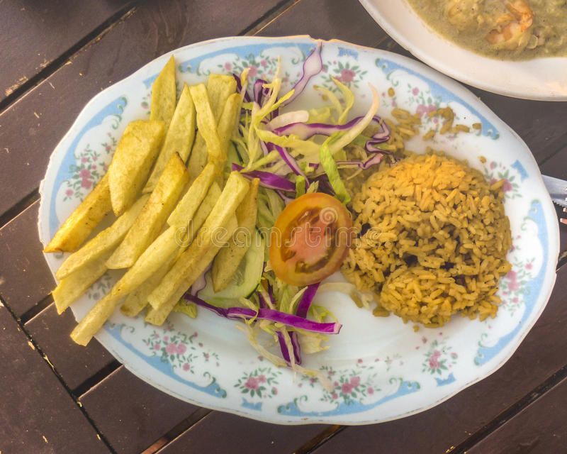 Traditional Caribbean Food of Colombia stock images