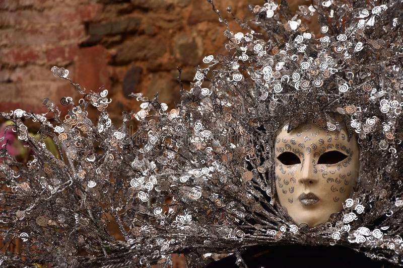 Traditional carnival venetian mask stock images