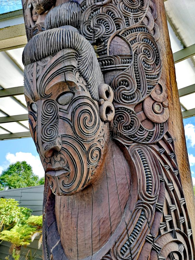 Carved Maori Board royalty free stock images
