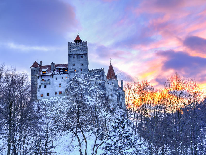 Traditional castle of Bran, Romania stock photography