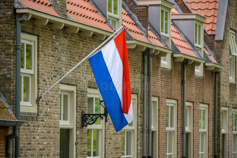 Traditional birthday celebration of King of the Netherlands Willem-Alexander, King's Day national holiday on April 27, Dutch flag. Traditional celebration of royalty free stock photography