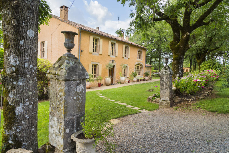 Traditional, charming, old stone house in the South of France royalty free stock photography