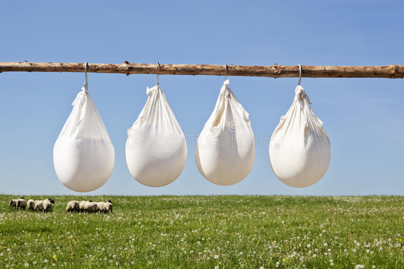 Traditional cheese production stock photos