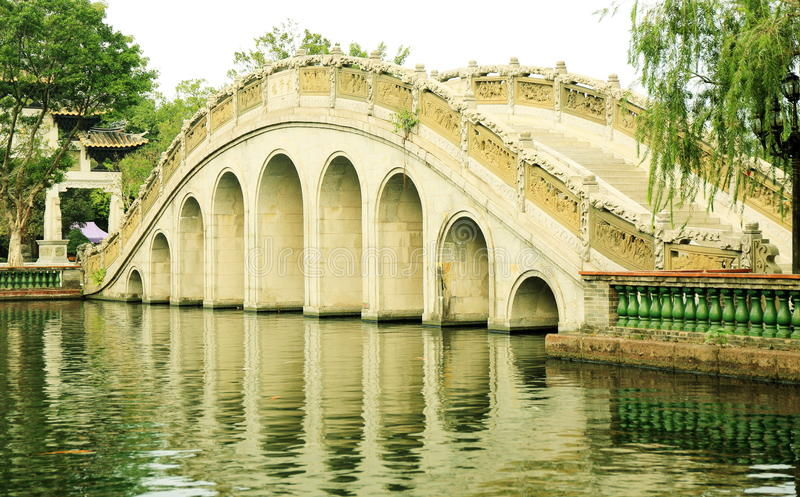 Chinese arch bridge China stock images
