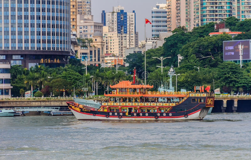 Traditional Chinese boat royalty free stock photos