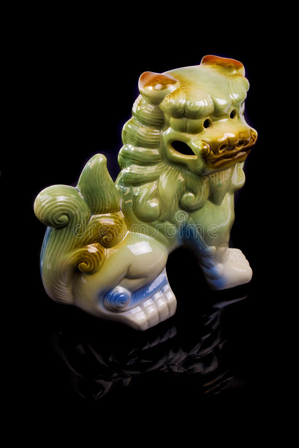Traditional Chinese Ceramic Lion Sculpture Stock Images