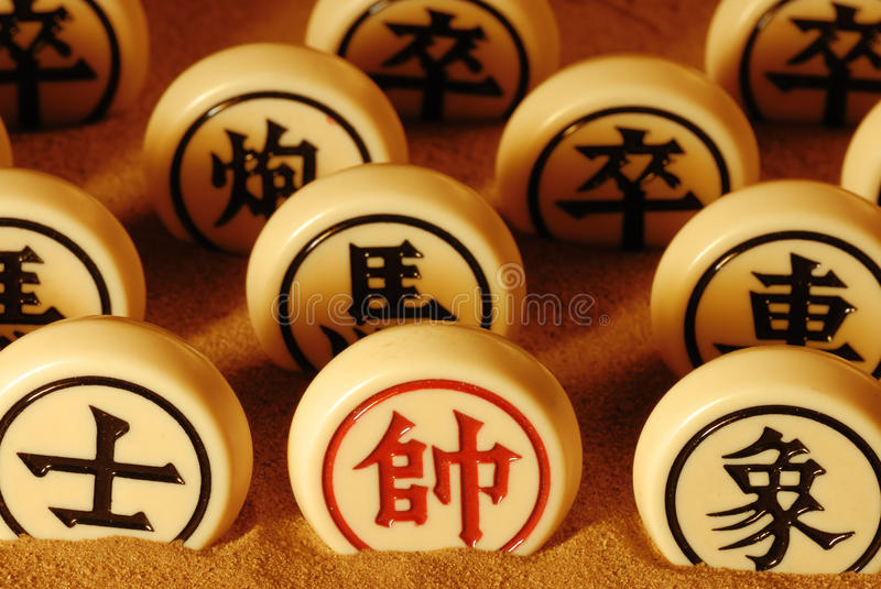 Traditional chinese chess royalty free stock photos