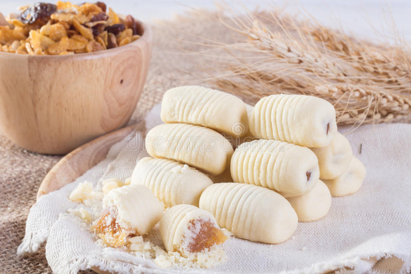 Traditional Chinese cookies pineapple tart stock image