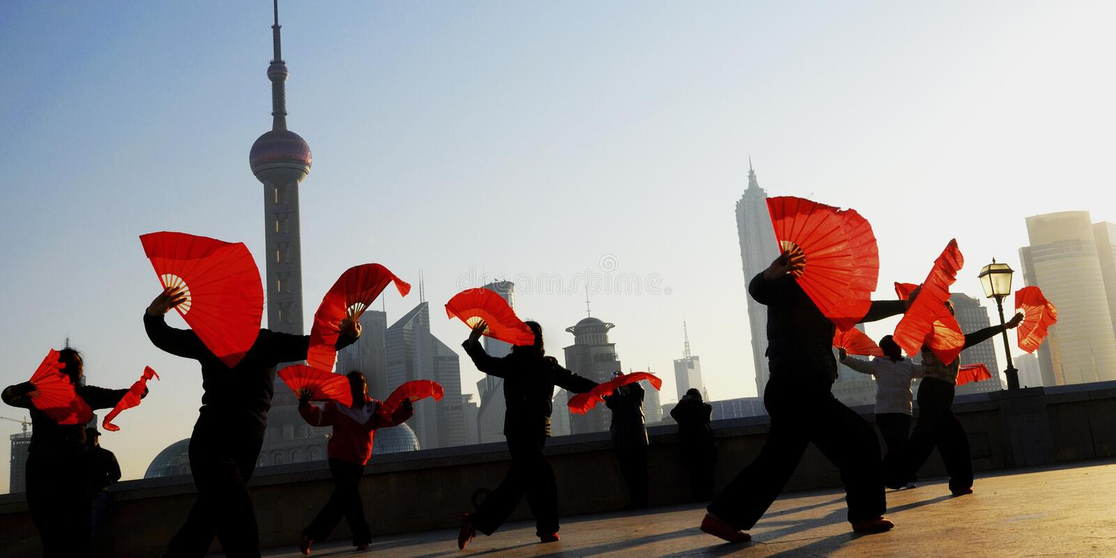 Traditional Chinese Culture Dance Showing Concept stock photography