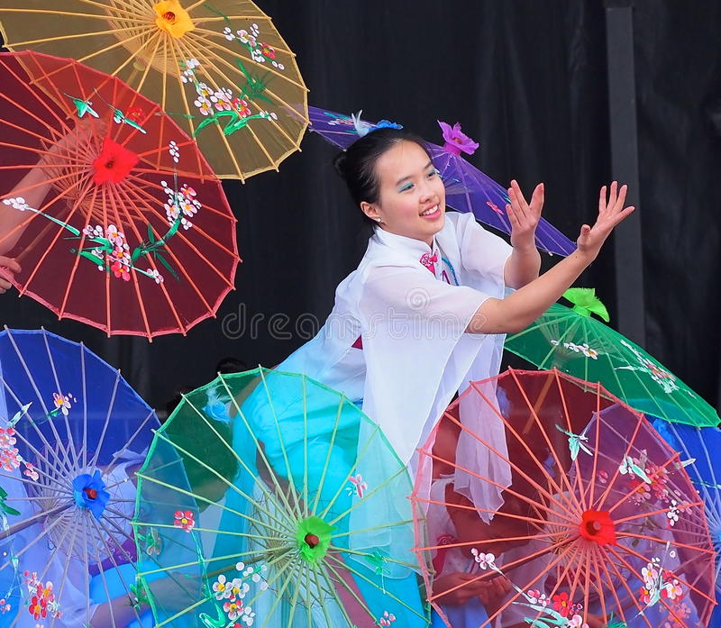 Traditional Chinese Dancer stock photo