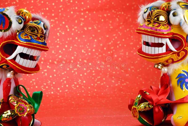 Download Traditional Chinese Dancing-lion Stock Image - Image of ornament, year: 12045857